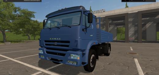 Русская техника для игры мод КамАЗ 45253 с прицепом для Farming Simulator 2017