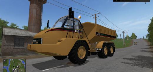 Грузовики для игры мод Мод самосвала «Caterpillar 725A» для Farming Simulator 2017