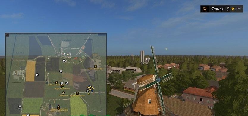 Карты для игры мод Карта «Cappeln Northern Germany» для Farming Simulator 2017