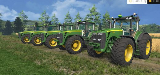 Тракторы для игры мод Мод Трактор John Deere 8030 Serie v4.0 для Farming Simulator 2017