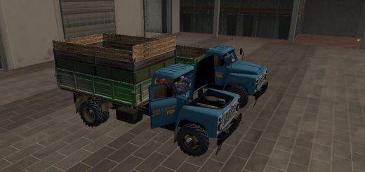 Русская техника для игры мод Мод грузовик ГАЗ 53 для Farming Simulator 2017