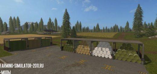 Объекты для карт для игры мод Мод Хранилище Bale Storage v 1.0.1.0 для Farming Simulator 2017
