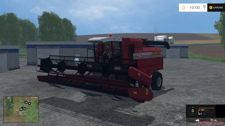 Русская техника для Мод комбайн Палессе GS12 v 1.1 для Farming Simulator 2015