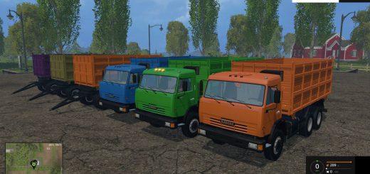 Русская техника для Мод грузовик КамАЗ 45143 с прицепом v1.0 для Farming Simulator 2015