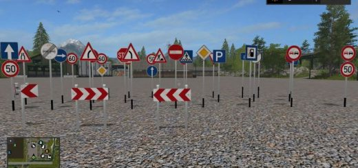 Другие моды для игры мод Мод Дорожных знаков с Даров Кавказа v 1.0 для Farming Simulator 2017