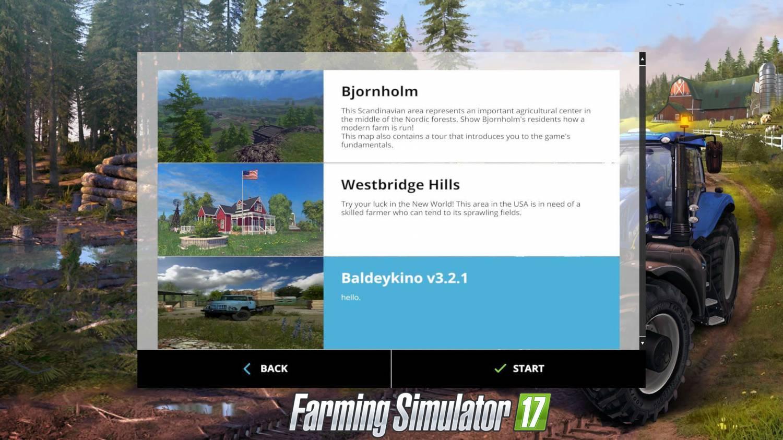 Карты для игры мод Русская карта Балдейкино 3 для Farming Simulator 2017
