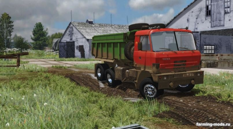 Грузовики для игры мод Мод Грузовик Tatra 815 v 1.0 для Farming Simulator 2017