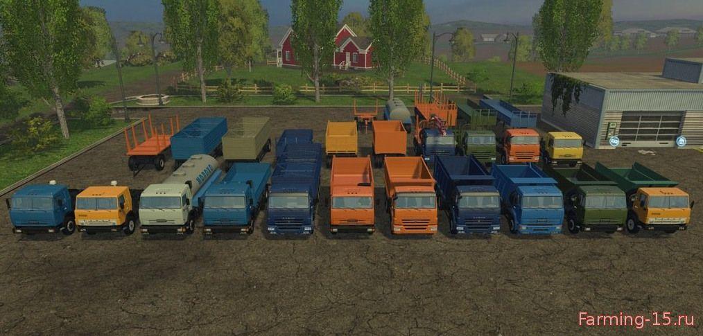 Русская техника для Мод-пак КамАЗ v2.0 для Farming Simulator 2015