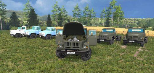 Русская техника для Мод-пак грузовиков ЗиЛ (130, 131, 133, 45046) для Farming Simulator 2015