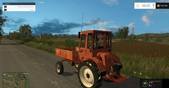 Русская техника для игры мод Мод трактор «Т-16М» для Farming Simulator 2017