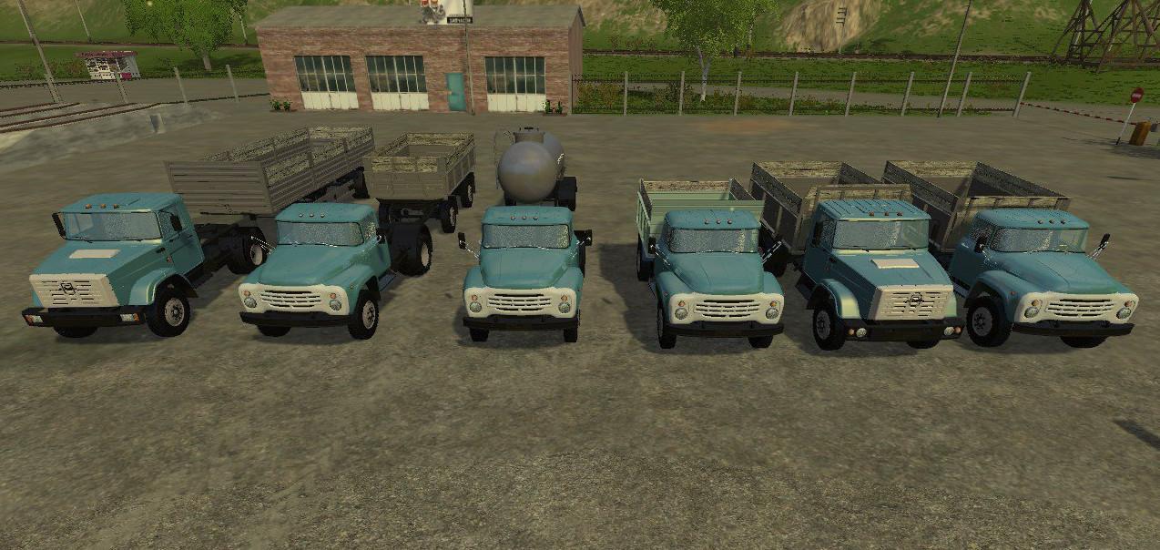 Русская техника для Мод-пак грузовиков «ЗиЛ» и прицепов для Farming Simulator 2015
