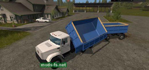 Грузовики для игры мод Мод Грузовой автомобиль ЗИЛ-4331 с прицепом для Farming Simulator 2017