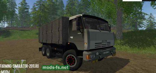Русская техника для Мод Грузовик КамАЗ 45143 с прицепом для Farming Simulator 2015