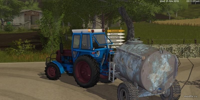 Русская техника для игры мод Мод Трактор ЛТЗ 55 для Farming Simulator 2017