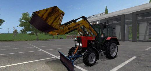 Русская техника для игры мод Беларус МТЗ и оборудования (v0.2 NezuZ) для Farming Simulator 2017
