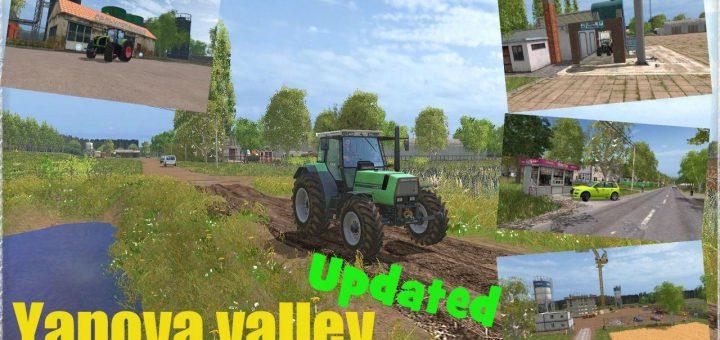 Русские карты для Русская карта Янова долина (хардкор) для Farming Simulator 2015