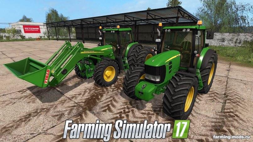 Тракторы для игры мод Мод John Deere 7430/7530 v 4.1 для Farming Simulator 2017