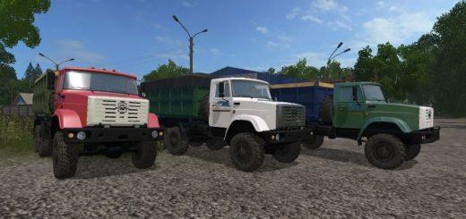 Русская техника для игры мод Мод Зил-4334 Фермер с прицепом v 1.1 для Farming Simulator 2017
