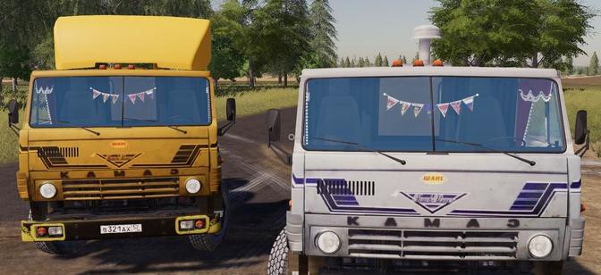Скачать мод старый тягач КамАЗ для Фермер Симулятор 2019