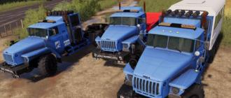 Мод на грузовик УРАЛ 44202-72E5 для игры Фермер Симулятор 2019