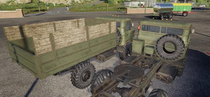 Мод на грузовик и тягач ГАЗ-66 для Фермер Симулятор 2019