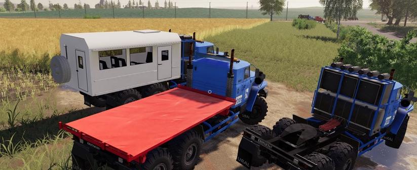 Скачать мод на грузовик УРАЛ 44202-72E5 для игры Фермер Симулятор 2019