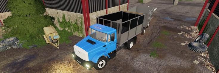 Скачать мод на ЗИЛ-45065 и ЗИЛ-4421 + прицеп для Фермер Симулятор 2019