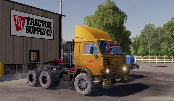 Старый тягач КамАЗ для игры Farming Simulator 2019
