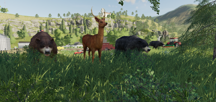 Мод на дикие животные «Wildtiere» для FS2019