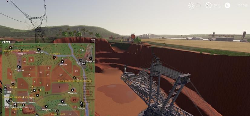 Карта Mining & Construction Economy для Farming Simulator 19