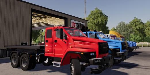 Скачать пак грузовиков УРАЛ Next T25 420 6X4 для Farming Simulator 2019