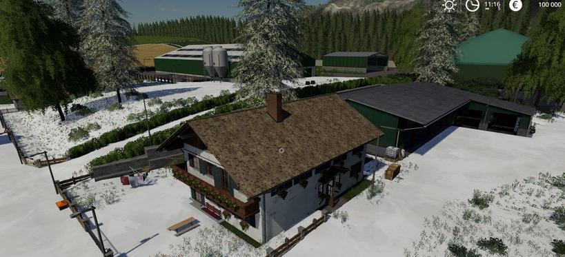Мод на карту «Belgique Snow» v1 для Фермер Симулятор 2019