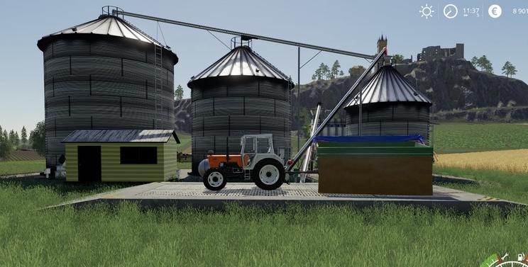 Мод на склад «Harvestore Grain Silo» для хранения зерна в Farming Simulator 2019
