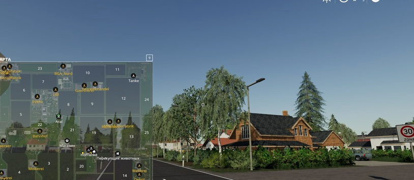 Мод на карту «Nordfriesische Marsch» v1.1 для Farming Simulator 19