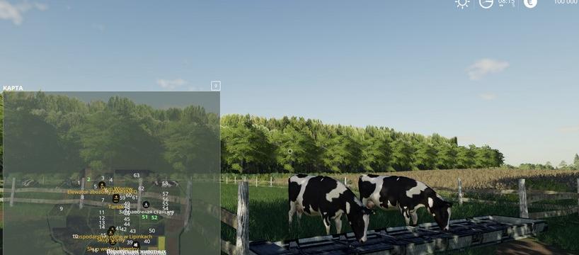 Скачать карту «Lipinki Map» v3.1 для игры Farming Simulator 2019