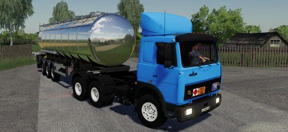 Скачать мод на тягач MAZ 6422 EARLY для Фермер Симулятор 2019