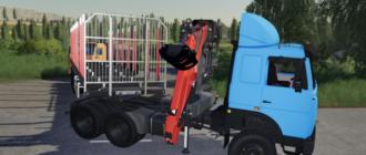Скачать мод на MAZ 6422 Manipulator для Farming Simulator 2019