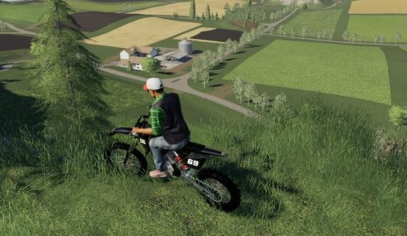 Мод на мотоцикл KTM Dirtbike для Farming Simulator 2019