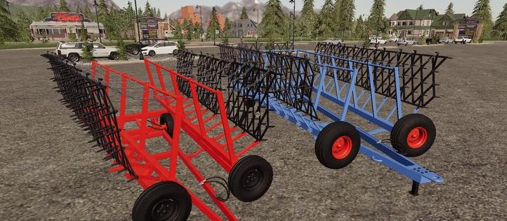 Мод на универсальные зубные бороны для Farming Simulator 2019