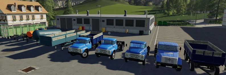 Мод пак грузовиков ЗИЛ с прицепами для Фермер Симулятор 2019