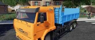 Мод на грузовик КамАЗ-65115 для Фермер Симулятор 2019