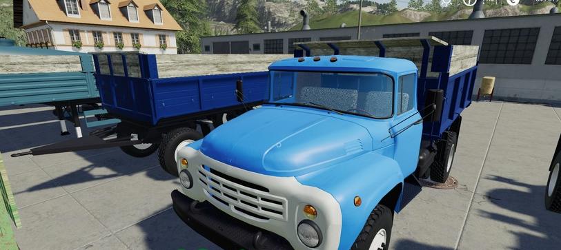 Скачать мод пак грузовиков ЗИЛ и прицепов для Farming Simulator 2019