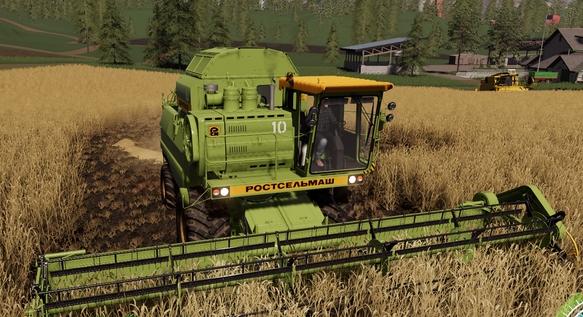 Скачать мод на комбайн Дон 1500Б 1997 2004 для Farming Simulator 2019