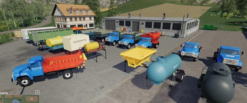 Скачать мод на ЗиЛ Пак для Farming Simulator 2019