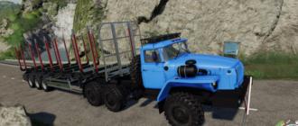 Мод на тягач УРАЛ-4320Т для Farming Simulator 2019