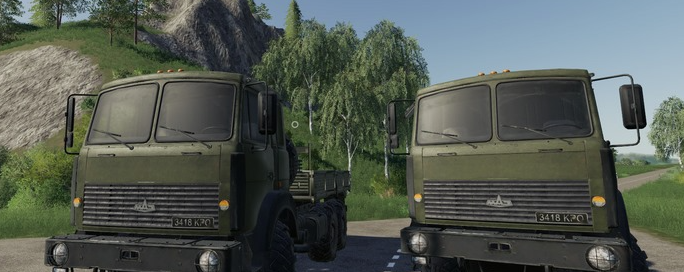 Мод на грузовик и тягач МАЗ-63172 для Farming Simulator 2019