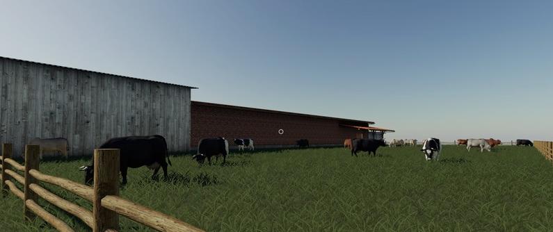 Коровник «Platzierbare Kuhweide/Milchhof» для Farming Simulator 2019