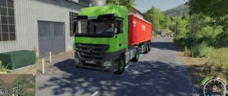 Мод на Mercedes Actros MP3 v1.0 для Farming Simulator 2019