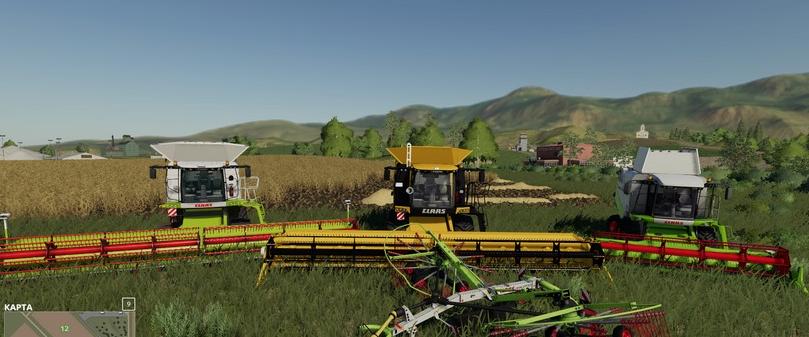 Мод-пак комбайнов Claas от JBK для Farming Simulator 2019