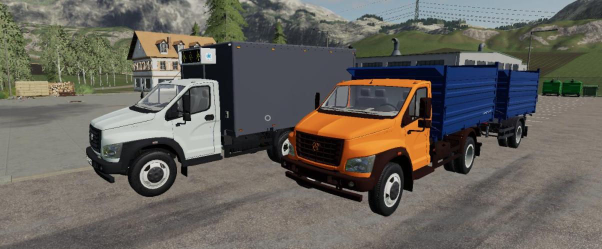 Мод пак на Газель Next v1.0 для Farming Simulator 2019